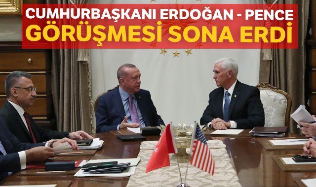 Cumhurbaşkanı Erdoğan - Pence görüşmesi sona erdi