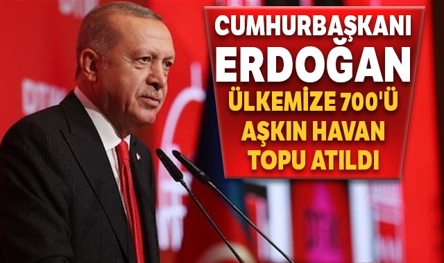 Cumhurbaşkanı Erdoğan: Ülkemize 700'ü aşkın havan topu atıldı