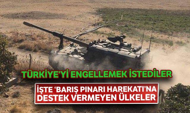 İşte Barış Pınarı harekatına destek veren ve vermeyen ülkeler!