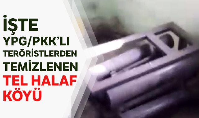 İşte YPG/PKK'lı teröristlerden temizlenen Tel Halaf köyü