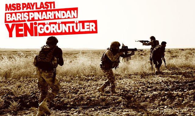 Milli Savunma Bakanlığı paylaştı: İşte Barış Pınarı Harekatı'ndan yeni görüntüler