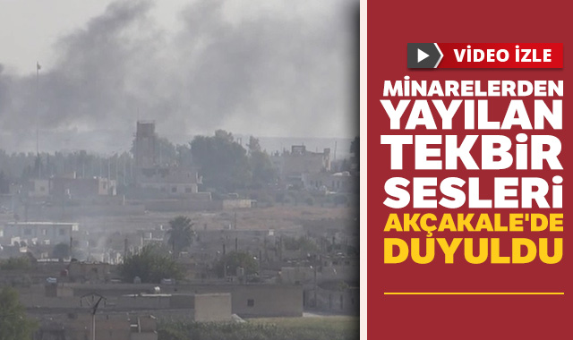 Minarelerden yayılan tekbir sesleri Akçakale'de duyuldu