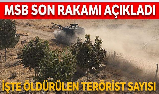 MSB açıkladı, öldürülen terörist sayısı 673 oldu