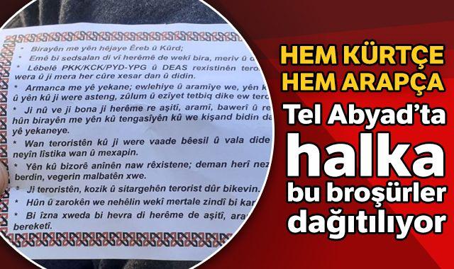Tel Abyad'da bu broşürler dağıtıldı