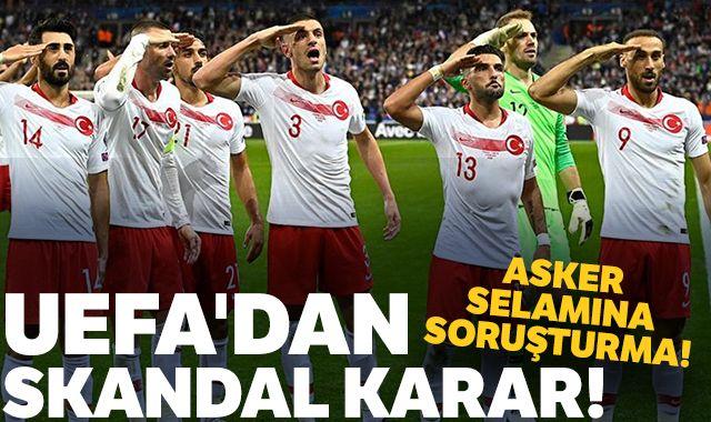 UEFA'dan skandal karar! Asker selamına soruşturma!