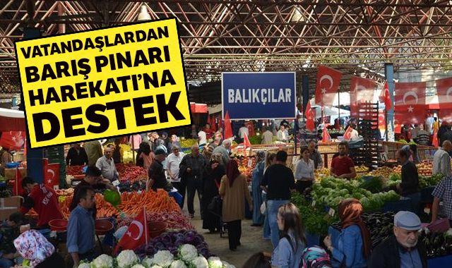 Vatandaşlardan Barış Pınarı Harekatı'na destek