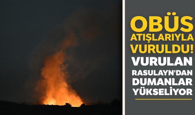 Vurulan Rasulayn'dan dumanlar yükseliyor