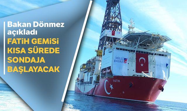 Bakan Dönmez'den Doğu Akdeniz'deki sondaj çalışmalarına ilişkin açıklama