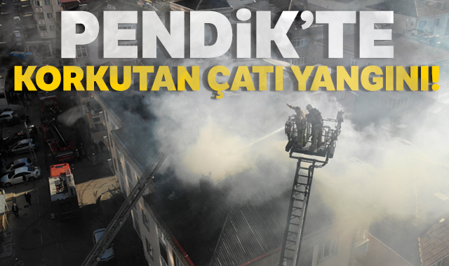 4 katlı apartmanın çatısında yangın çıktı