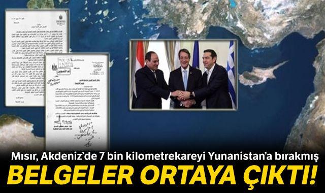 Belgeler ortaya çıktı! Mısır, Akdeniz'de 7 bin kilometrekareyi Yunanistan'a bırakmış