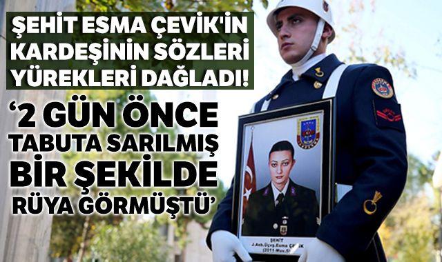 Şehit Astsubay Esma Çevik son yolculuğuna uğurlandı