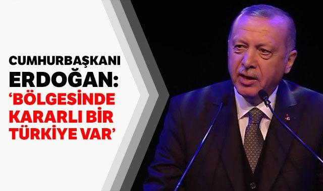 Cumhurbaşkanı Erdoğan: 'Bölgesinde kararlı bir Türkiye var'