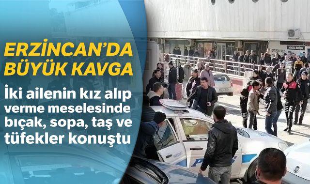 Erzincan'da kız alıp verme kavgası: 20 gözaltı
