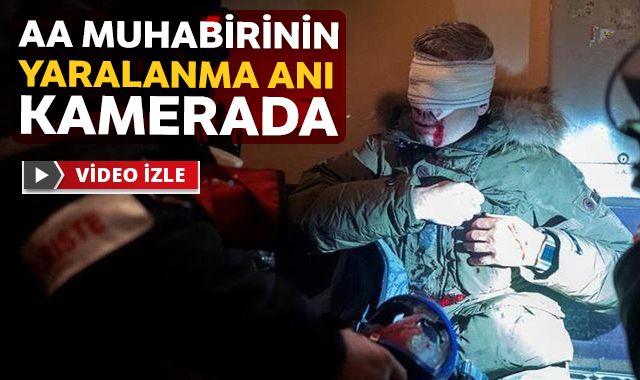 Foto Muhabiri Mustafa Yalçın'ın yaralanma anı