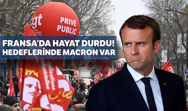 Fransa'da hayatı durduracak grev ve protestolar başladı