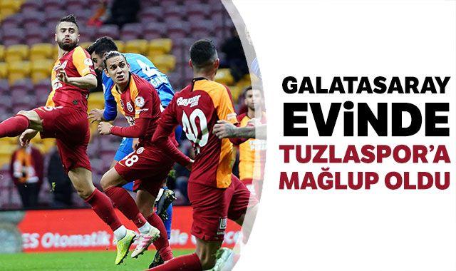Galatasaray sahasında Tuzlaspor'a 2-0 kaybetti