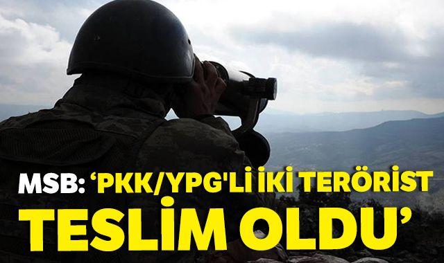 PKK/YPG'li 2 terörist, örgütten kaçarak hudut karakolumuza teslim oldu