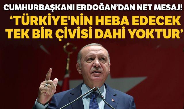 Cumhurbaşkanı Erdoğan: Türkiye'nin heba edecek tek bir çivisi dahi yoktur