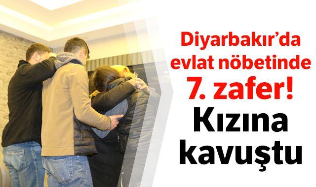 Diyarbakır'da evlat nöbetinde 7. zafer! Kızına kavuştu