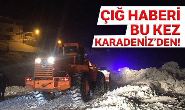 Gümüşhane-Trabzon kara yolu Zigana Dağı mevkisinde çığ düştü