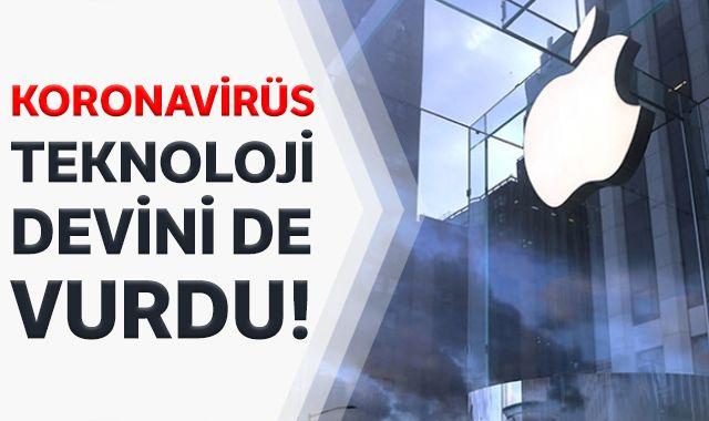 Kovid-19 salgını Apple'ın ocak-mart gelir beklentisini de olumsuz etkiledi