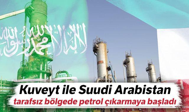 Kuveyt ile Suudi Arabistan, tarafsız bölgede petrol çıkarmaya başladı