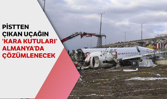"""Sabiha Gökçen Havalimanı'nda pistten çıkan uçağın """"kara kutuları"""" Almanya'da çözümlenecek"""