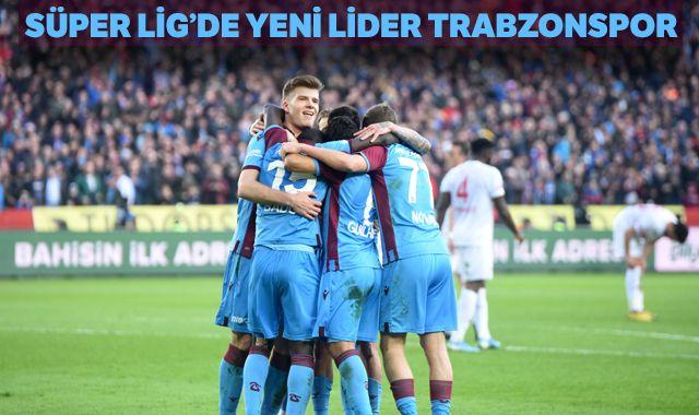 Trabzonspor Sivasspor'u yendi! Liderliğe yükseldi