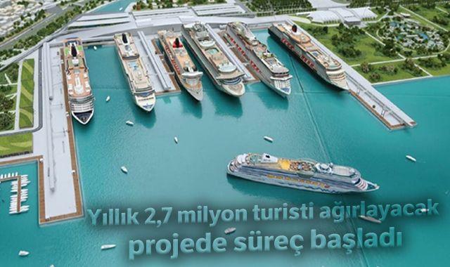 Yıllık 2,7 milyon turisti ağırlayacak projede süreç başladı