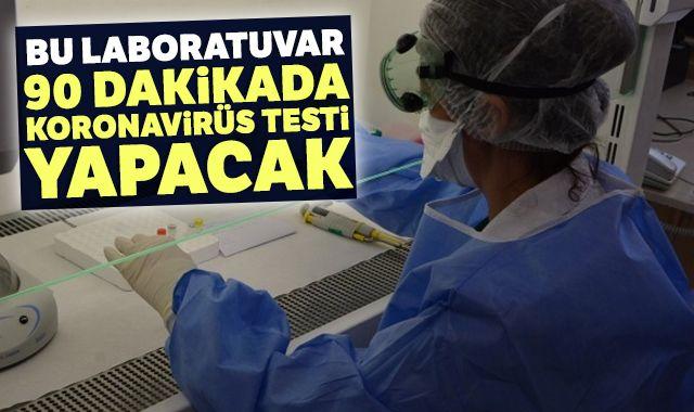 Bu laboratuvar 90 dakikada korona virüs testi yapacak