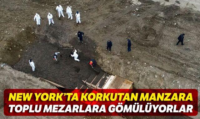 New York'ta Covid-19'dan ölenler için 'toplu mezar adası'