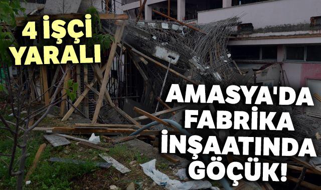 Amasya'da inşaat halindeki bina çöktü: 4 yaralı