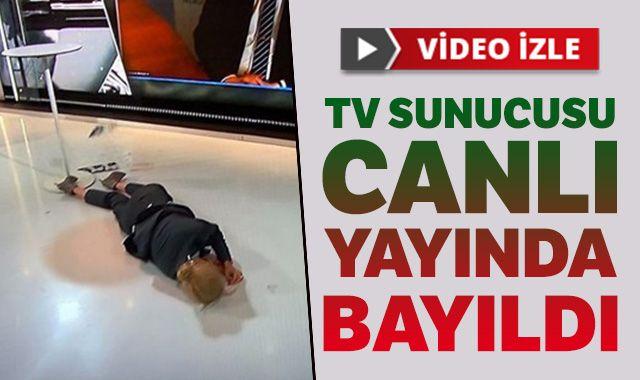 İsveç'te tv sunucusu canlı yayında bayıldı