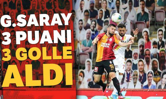 Galatasaray sahasında Göztepe'yi 3-1 yendi