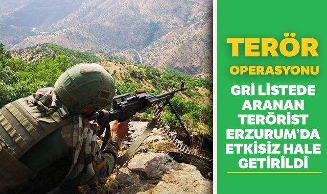 Gri listedeki Hejar kod adlı Halis Eroğlu, Erzurum'da etkisiz hale getirildi