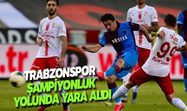 Trabzonspor 2- Antalyaspor 2 maç sona erdi