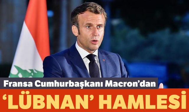 Fransa Cumhurbaşkanı Macron'dan 'Lübnan' hamlesi
