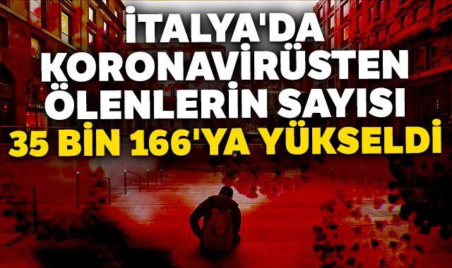 İtalya'da Kovid-19'dan ölenlerin sayısı 35 bin 166'ya yükseldi
