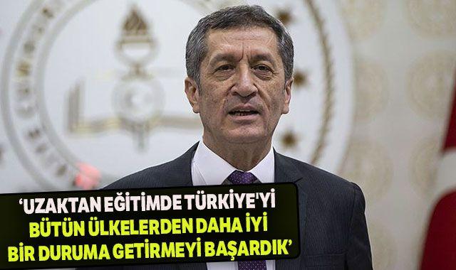 Bakan Selçuk: Uzaktan eğitimde Türkiye'yi bütün ülkelerden daha iyi bir duruma getirmeyi başardık