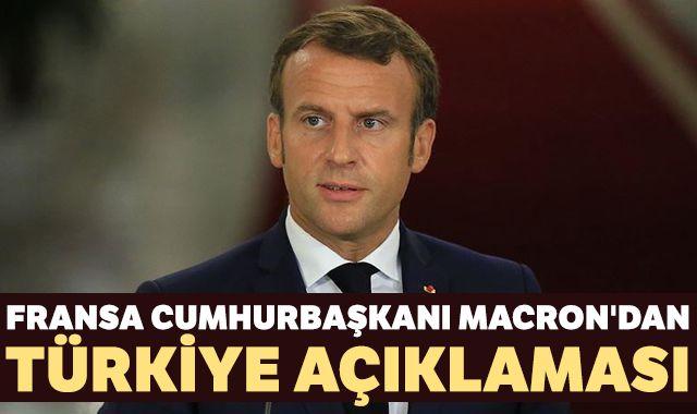 Macron: Türkiye'ye saygı duyuyoruz ve onunla diyaloğa hazırız