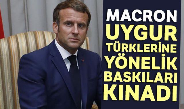 Macron, Uygur Türklerine yönelik baskıları kınadı