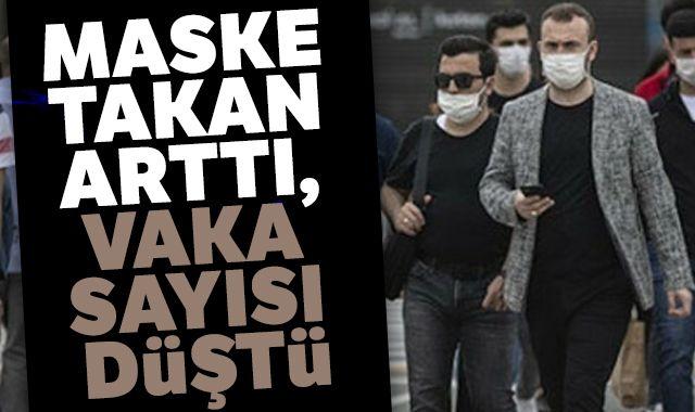 Maske takan arttı, vaka sayısı düştü