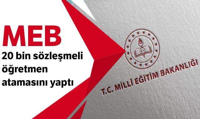 MEB, 20 bin sözleşmeli öğretmen atamasını yaptı