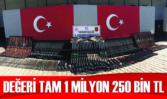 1 milyon 250 bin TL değerinde kaçak silah ele geçirildi