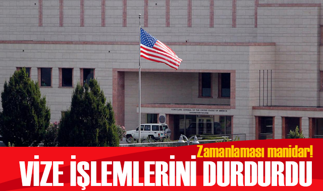 ABD, Türkiye'deki vize işlemlerini durdurdu