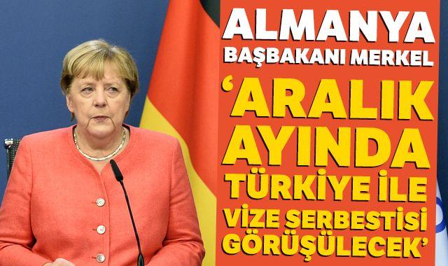 """Almanya Başbakanı Merkel: """"Aralık ayında Türkiye ile vize serbestisi görüşülecek"""""""