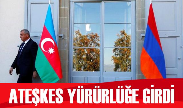 Azerbaycan ve Ermenistan arasındaki ateşkes yürürlüğe girdi