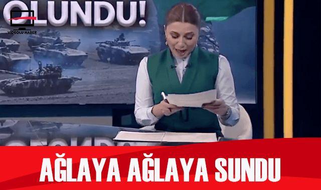 Azerbaycanlı spiker gözyaşlarını tutamadı! Ağlaya ağlaya sundu...