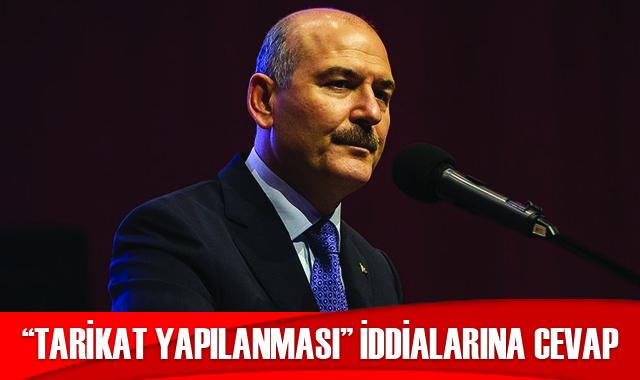 """Bakan Soylu'dan """"tarikat yapılanması"""" iddialarına cevap"""