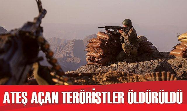 Barış Pınarı bölgesine taciz ateşi açan 3 terörist etkisiz hale getirildi